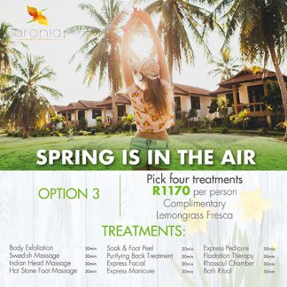 Aronia Day Spa Spring promotion 2020 johannesburg best day spa joburg